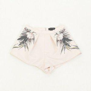 Stylestalker Pastel Pink High-Waisted Dress Shorts
